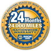 24 month / 24,000 mile nationwide automotive warranty